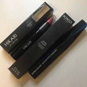 Hikari lip crayon  & Kiko Milano mascara